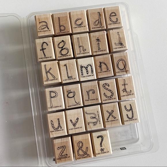 STAMPIN UP Doodle Alphabet Rubber Stamp Set